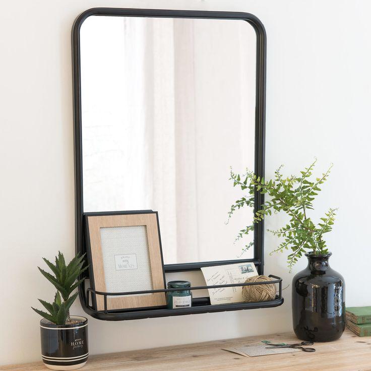 Spiegel mit schwarzem Metallrahmen, 49 x 62 | Maisons du Monde
