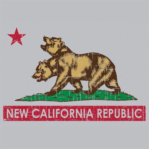 New California Republic Fallout 3 4 T-Shirt Funny Cheap Textual Tees