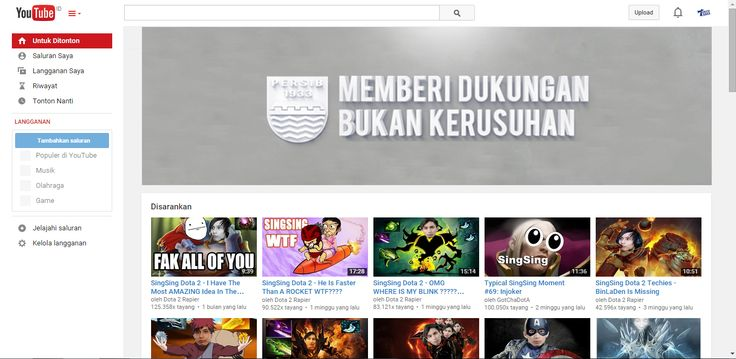 Mockup Web Banner on Youtube