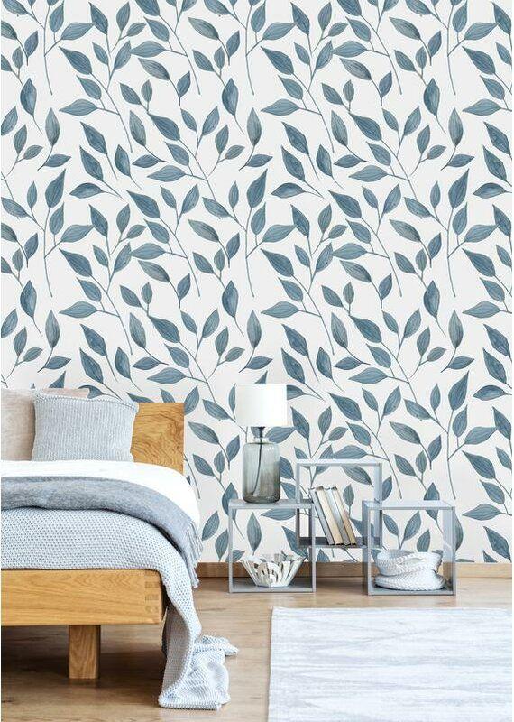 Pedigo Removable Hand Drawn Leave 10 L X 25 W Peel And Stick Wallpaper Roll In 2021 Peel And Stick Wallpaper Best Removable Wallpaper Removable Wallpaper