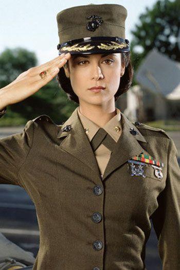 "Lt. Col. Sarah ""Mac"" MacKenzie (Catherine Bell). JAG (1995-2005). IMD: http://www.imdb.com/character/ch0020058/"