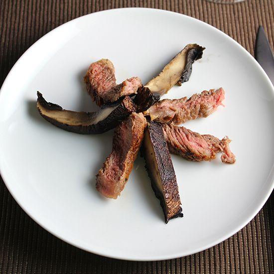 grilled ribeye with portobello mushrooms