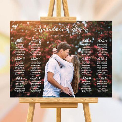 Photo wedding seating chart winter wedding seating plan