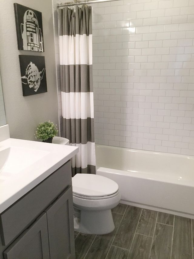 High Design Trends Not Only Look Beautiful But Add Value To Your Bathroom Remodel Here Are Ou Gray Bathroom Decor Diy Bathroom Makeover Small Bathroom Remodel