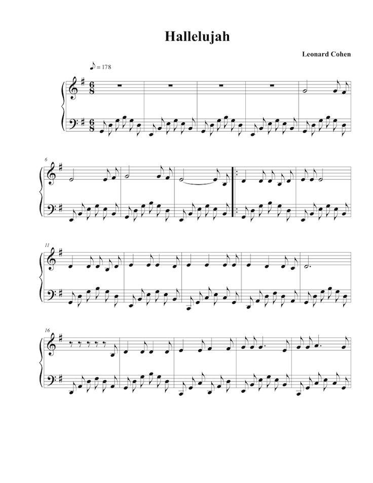 Brian Crain's arrangement of Leonard Cohen's Halleluiah