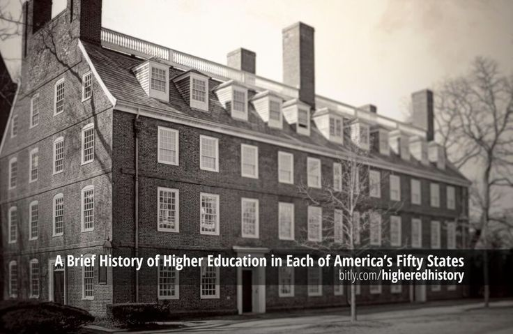 A Brief History of Education in Each of America's 50 States…  #education
