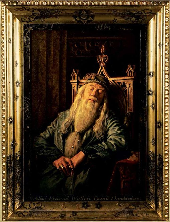 The Portrait of Albus Percival Wulfric Brian Dumbledore, hanging in Hogwarts school - Harry Potter Wiki