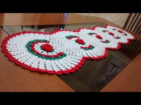 Como executar o trilho de mesa em crochê com 5 rosas parte 2 - YouTube
