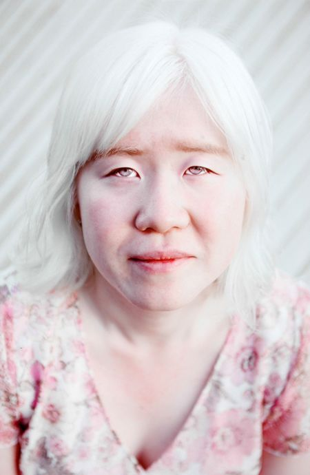Albino Japanese by Belinda Mason...beautiful eyes ...