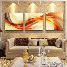 Modern Art Abstract Curve Lines Frameless 3-Panel Wall Art Print