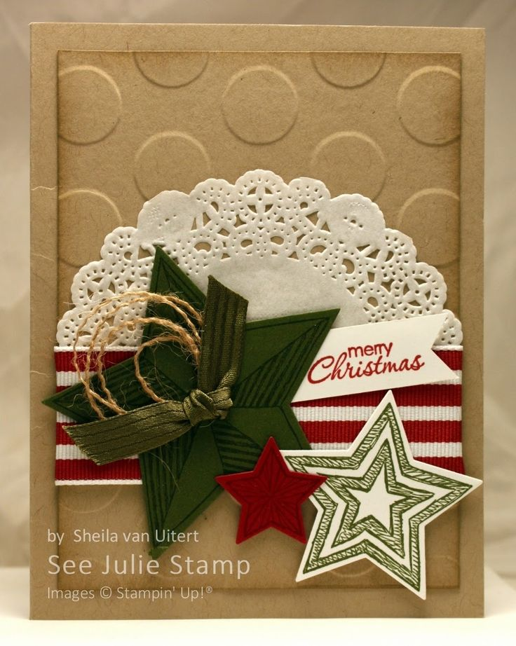 See Julie Stamp - Julie Wadlinger, Stampin' Up! Demonstrator : Swap: Cards in the Mail - Be the Star