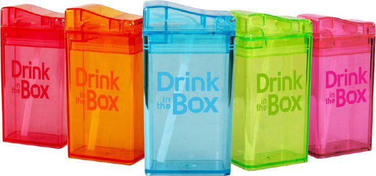 Juice in the box - Herbruikbaar drinkpakje met rietje (236 ml)