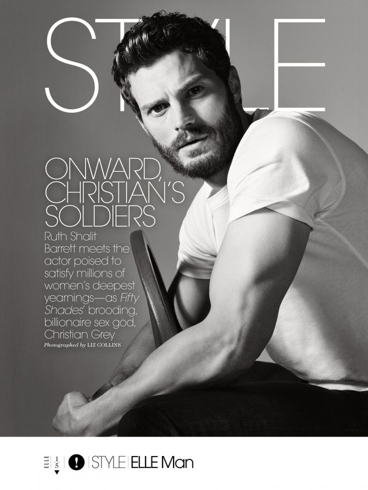 Jamie Dornan for Elle February 2015 Issue, Talks Charlie Hunnam, Matt Bomer as Christian Grey