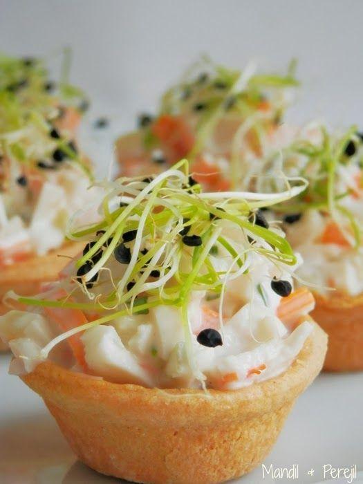 168 best tartaletas saladas y dulces images on pinterest for Canape de cangrejo