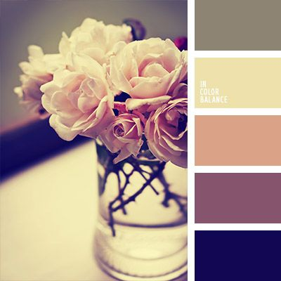 Perfect for Shabby chic design -  vintage colors inspiration
