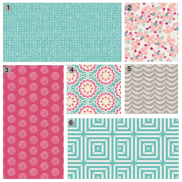Baby Girl Crib Bedding, Pink Teal and Grey Baby Bedding Set, Floral Crib Bedding by GiggleSixBaby on Etsy https://www.etsy.com/listing/183394883/baby-girl-crib-bedding-pink-teal-and