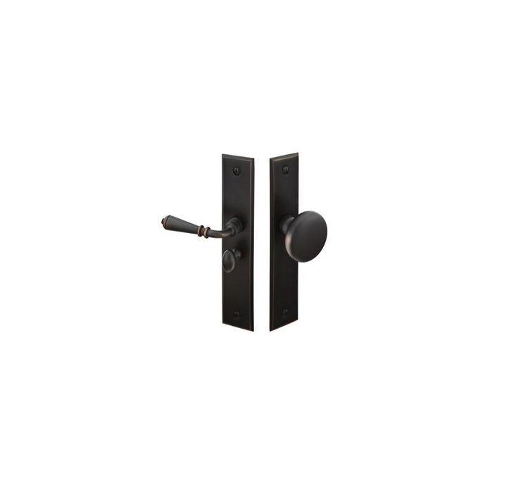 """Emtek 2291 6"""" Rectangular Style Brass or Bronze Screen Door Lockset Oil Rubbed Bronze Screen Door Hardware Screen Door Latch Mortise"""