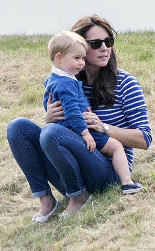 Kate Middleton Plays With Prince George on the Grass at Polo Event, Wears Skinny Jeans?See the Photos! | E! Online Mobile