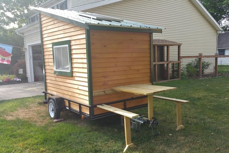 This is Boyd's DIY micro camper on wheels. He wanted to build a tiny home on wheels, but decided to build a tiny camper on a trailer first to practice. I think that's a fantastic idea. …