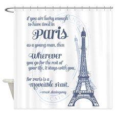 Wonderful Paris   Eiffel Tower Shower Curtain #eiffletowershowercurtainglam