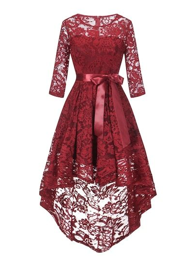 83785e1aee6 Shop 50s Guipure Lace Dip Hem Dress online. SheIn offers 50s Guipure Lace  Dip Hem Dress   more to fit your fashionable needs.