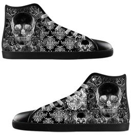 Quilted Skull Ladies High Tops