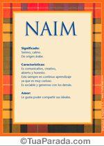 Naim, El significado del nombre Naim - TuParada.com