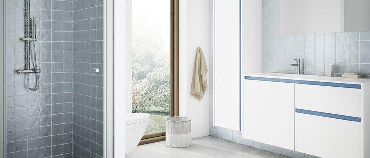 17 beste idee n over blauwe badkamers op pinterest blauwe badkamer verf badkamer verf kleuren - Badkamer blauwe petroleum ...