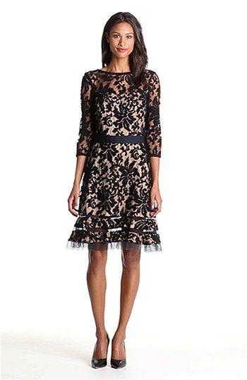 :: Tadashi Shoji Lace Overlay Dress :: #LookbookForAll