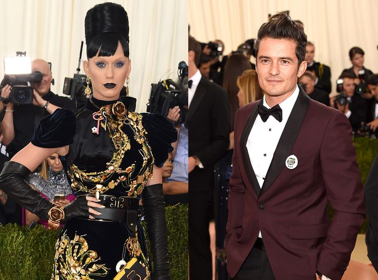 Katy Perry in Prada with best accessory Orlando Bloom #MetGala