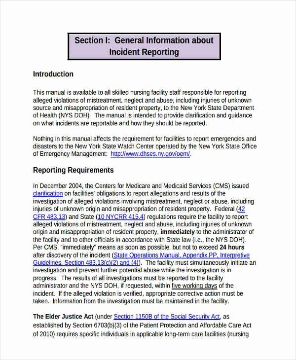 Nursing Incident Report Sample New 27 Template In Pdf Good Essay Scholarship Thank You Letter How To Memorize Things Elder Abuse