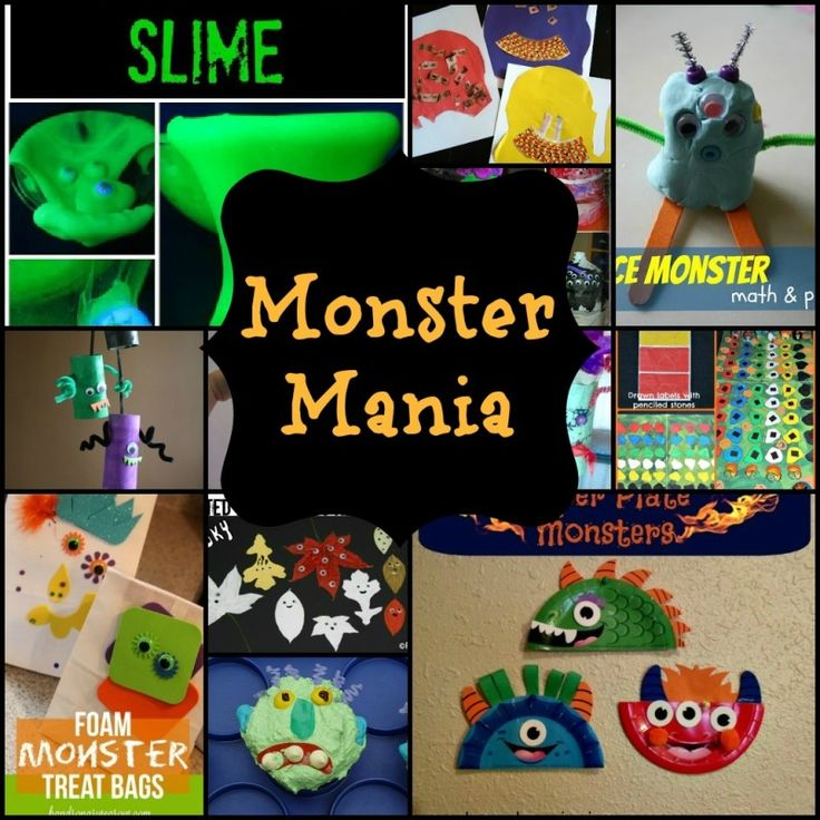 Moms Like Me: Monster Mania - Lots of fun and silly ideas for monster crafts, snacks, and activities!