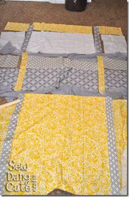 Pattern & tutorial for duvet cover
