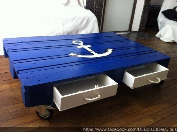 Nautical pallet coffee table