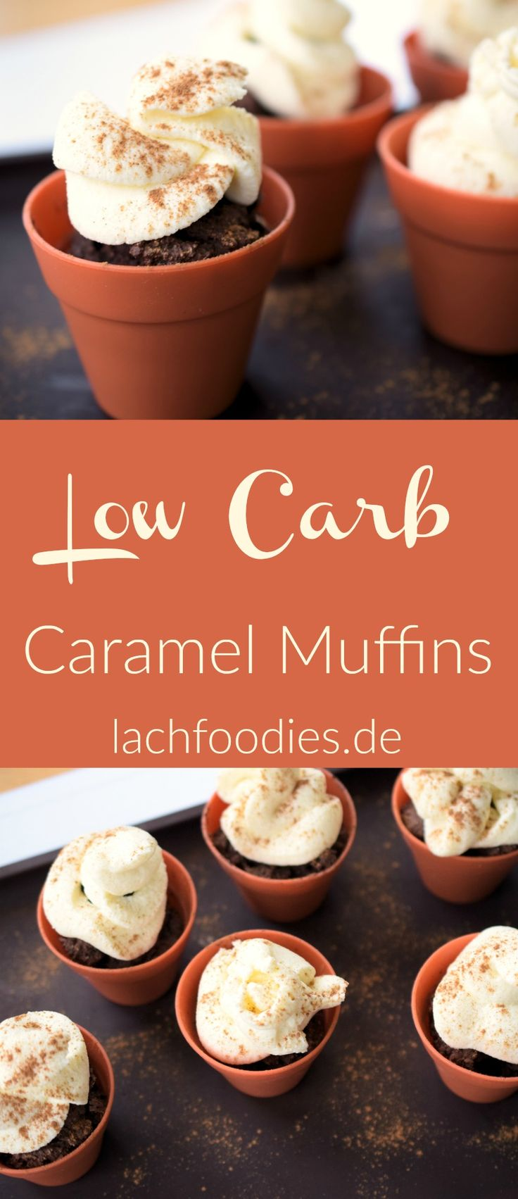 Sweet & salty caramel muffins. These low carb sweets are amazing for an healthy dessert.