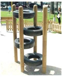 Tire Climber.  cute if you had a big enough back yard
