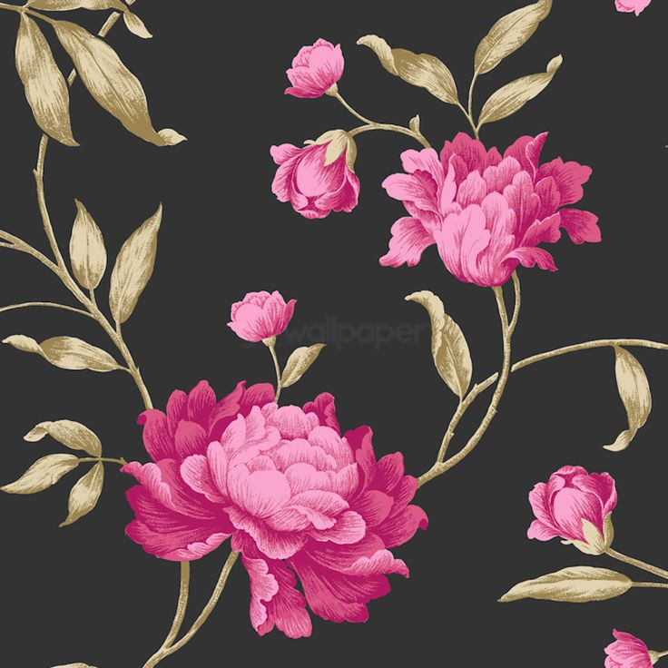 Pink Flowers Wallpaper: 1000+ Images About FLORAL WALLPAPERS On Pinterest