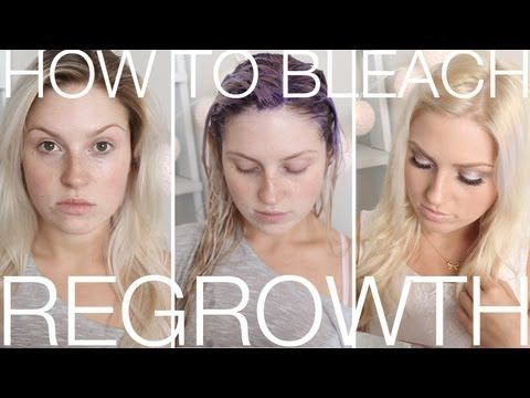 ▶ DIY Blonde Roots ♡ How To Touch Up Regrowth At Home! Dye Blonde Hair - YouTube
