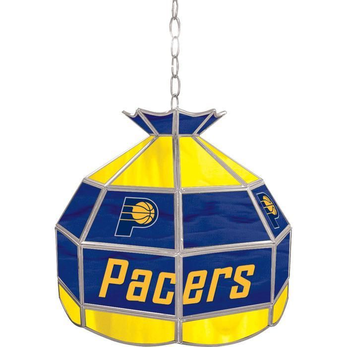 NBA1600-Ip Indiana Pacers NBA 16 Inch Tiffany Style Lamp