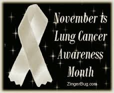 Image result for lung cancer awareness month