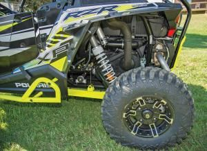 Check out the rock sliders and heavy duty Pro Armor Crawler tires on the Polaris rock star, the RZR XP 1000 EPS LE