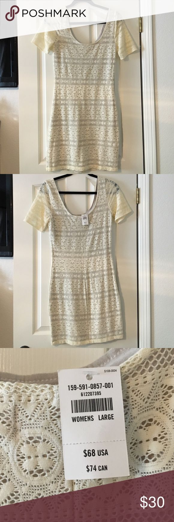 NWT Abercrombie & Fitch dress NWT Abercrombie and Fitch lace dress. Cream Abercrombie & Fitch Dresses