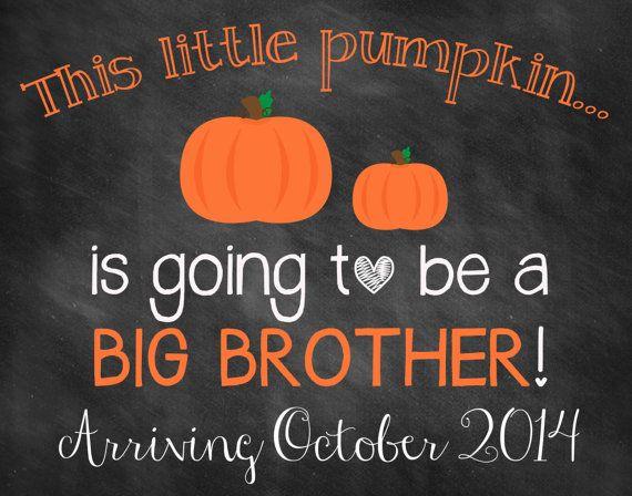 Printable Chalkboard Halloween Pregnancy Reveal // Halloween Pregnancy Announcement // Big Brother Announcement
