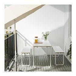 IKEA PS 2014 Table, indoor/outdoor, white, foldable - IKEA (maybe for laundry counter too?)