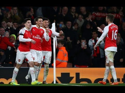 Arsenal vs Bournemouth 2-0 2015 Full Highlights (English Commentary)