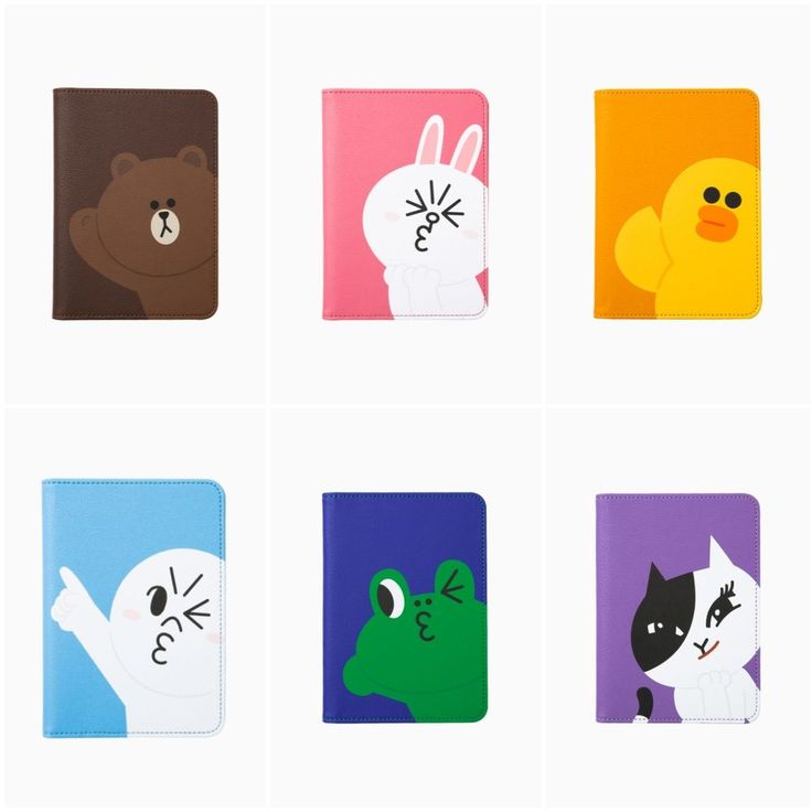 LINE FRIENDS Character Passport Holder Case 6 Types Official Goods #LINEFRIENDS