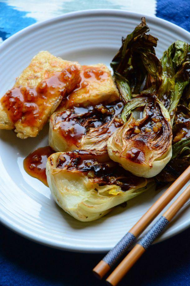 Baby Bok Choy and Crispy Tofu Teriyaki   Recipe   Forage