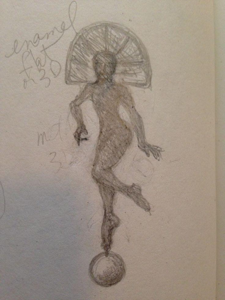Sketch for a jewelry piece. www.EricaRoss.com