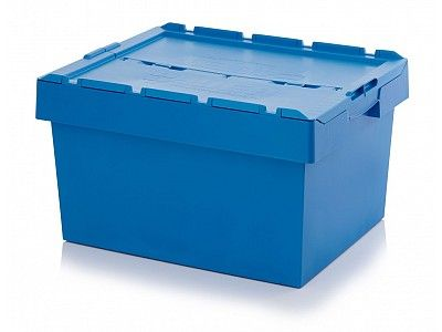 135 Litre Stack - Nest Attached Lid Container - Lidded Plastic Stroage Box