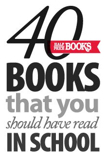 40 Classics You Should have read in school - two degrees in English and I'm still missing some of these!!